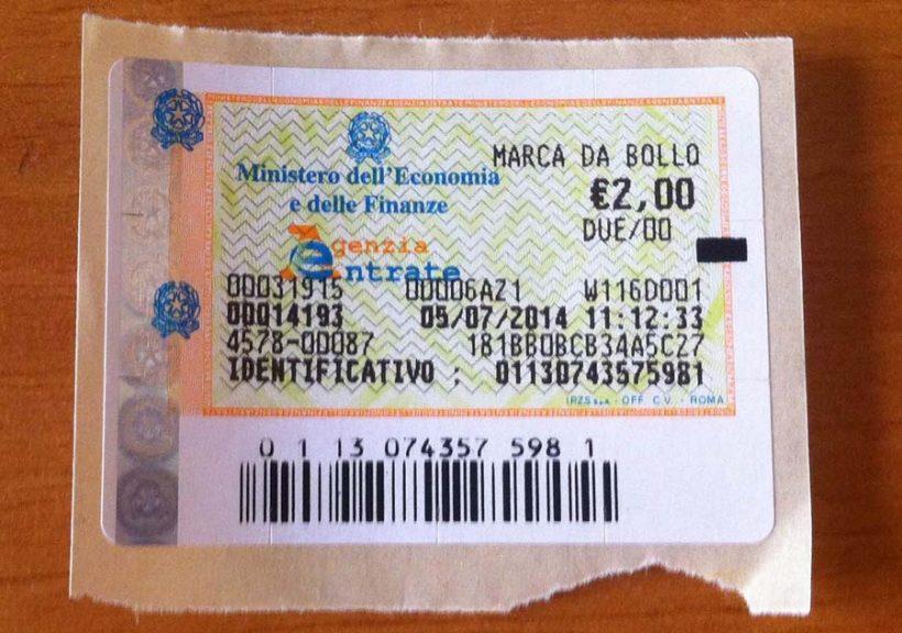 marca da bollo da 2 euro